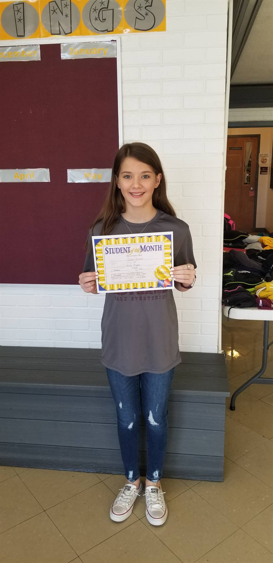 7th Grade Student of the Month - October