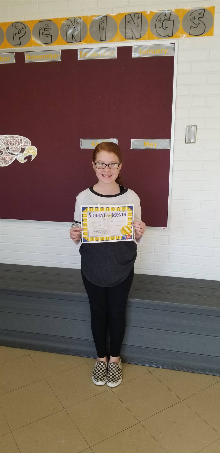 6th Grade Student of the Month - October