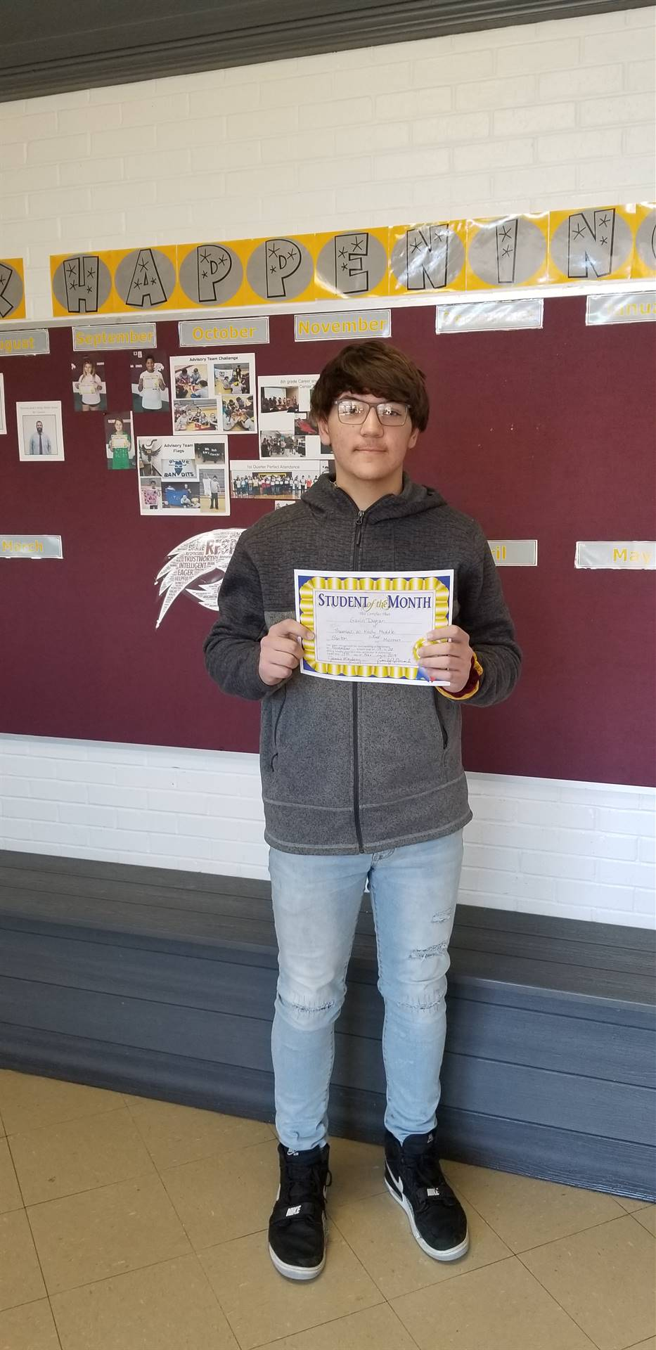 8th Grade Student of the Month - November