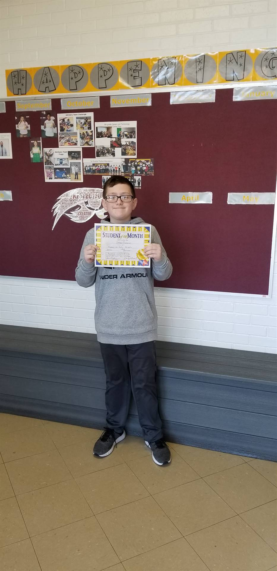 6th Grade Student of the Month - November