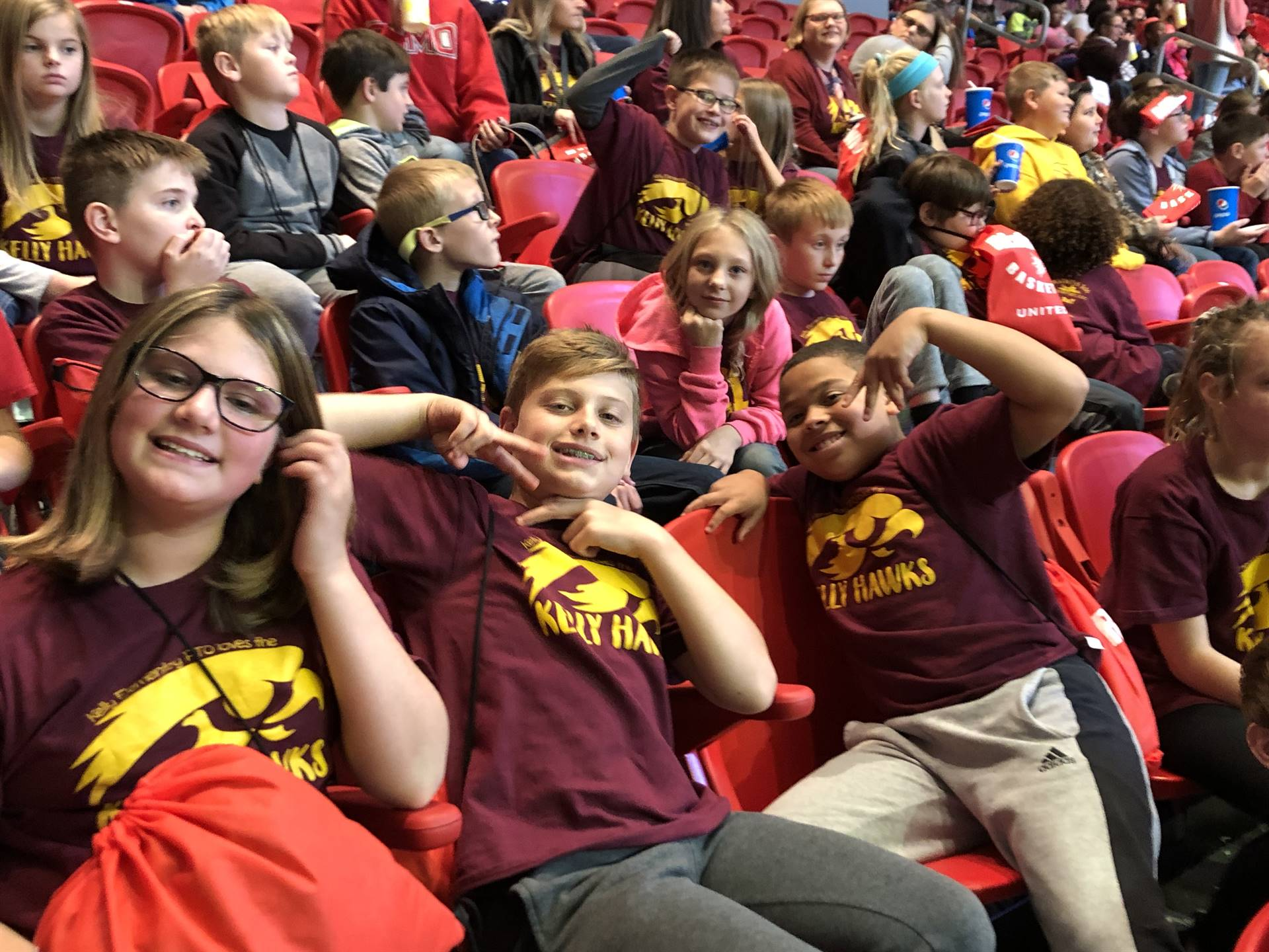 We had a blast rooting on the Redhawks!