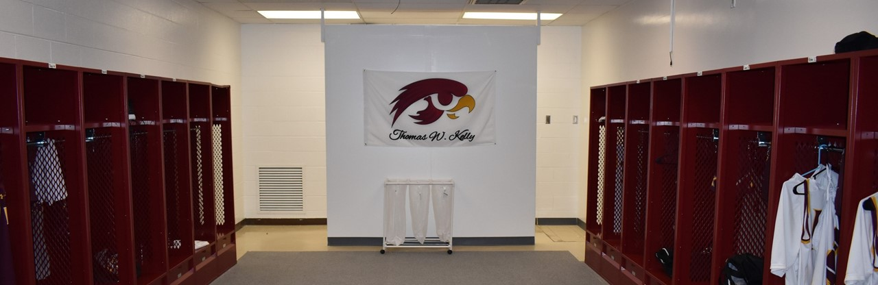 The new locker room for HS Boys Basketball was recently completed and is now in full use!