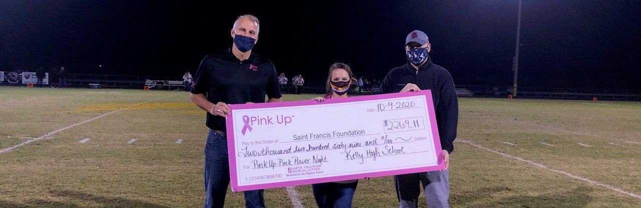 Pink Up Donation to St. Francis