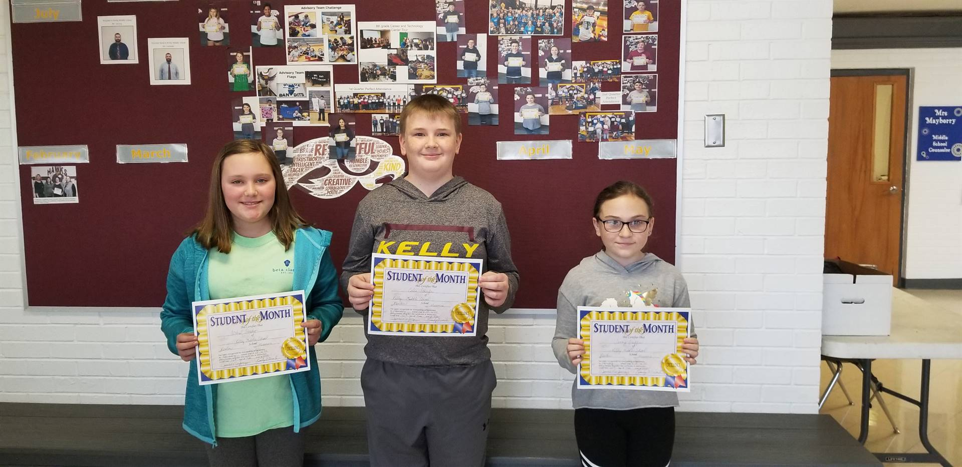 KMS February Students of the Month