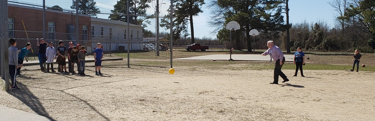 Dr. C Plays Kickball with 3rd Grade!